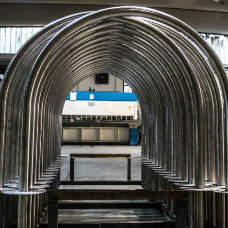 Arco porta bici in acciaio inox