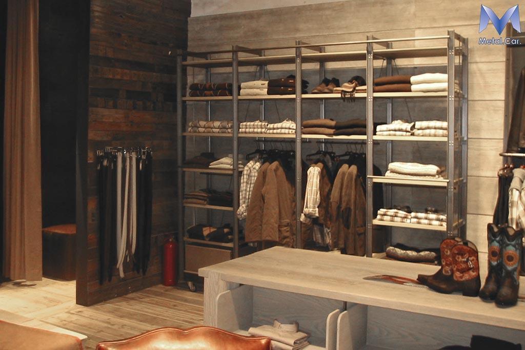 Arredamento negozi metal car carpenteria metallica for Negozi arredamento design torino