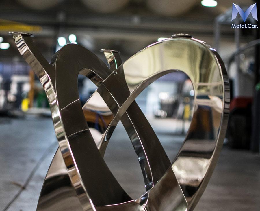 Keleer base in acciaio inox per tavoli design - Lucidatura acciaio inox a specchio ...