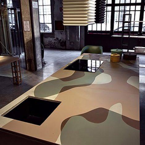 Dettaglio cucina camouflage