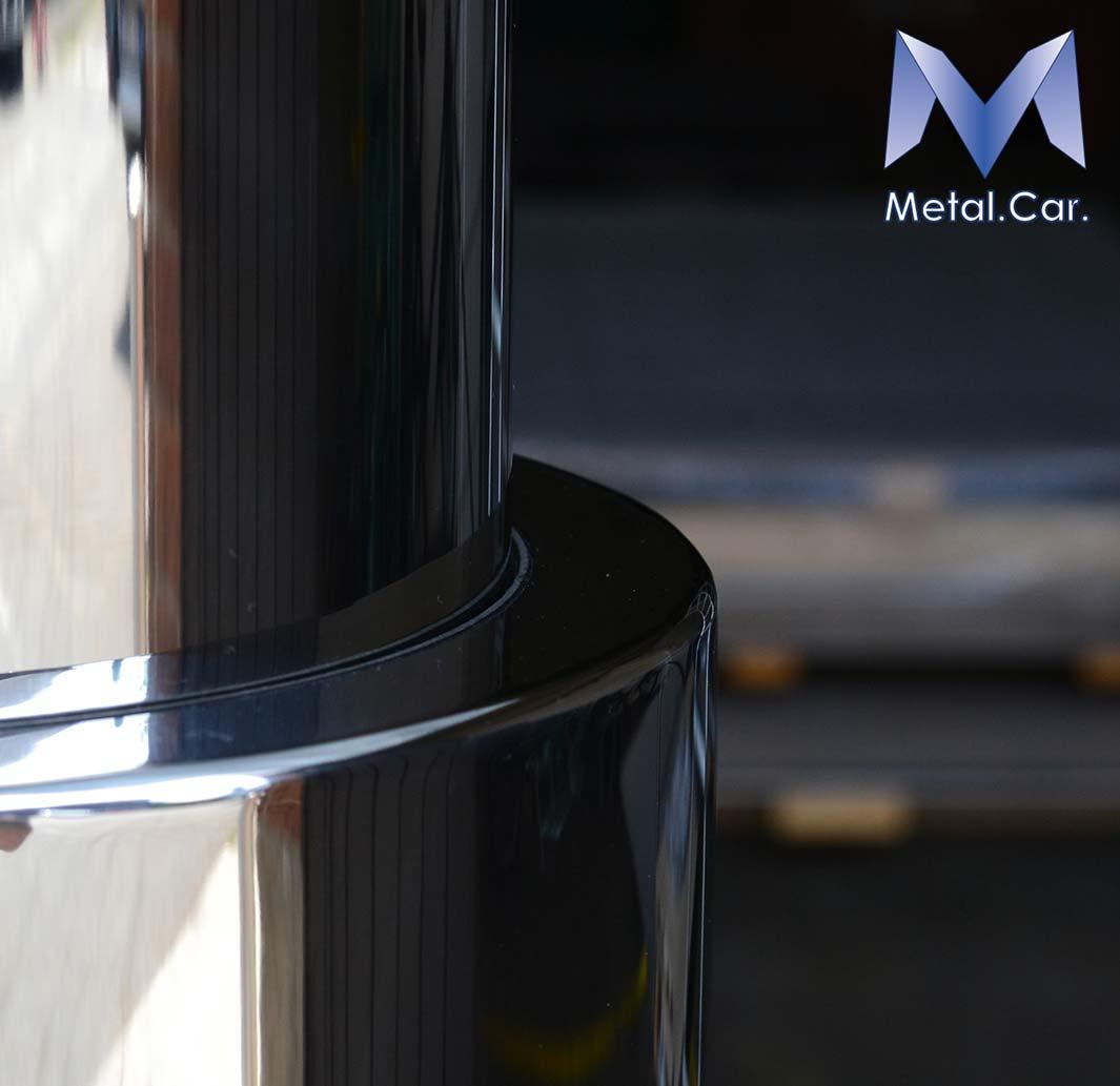 Piantana telescopica elettrica barca metal car carpenteria metallica - Lucidatura acciaio inox a specchio ...